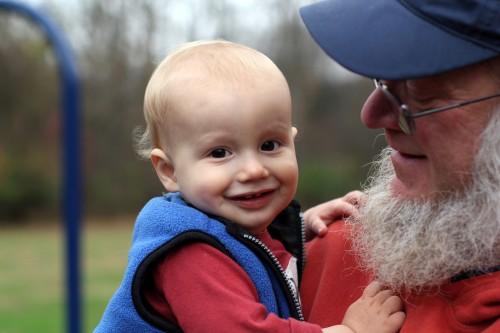 Oliver and grandpa
