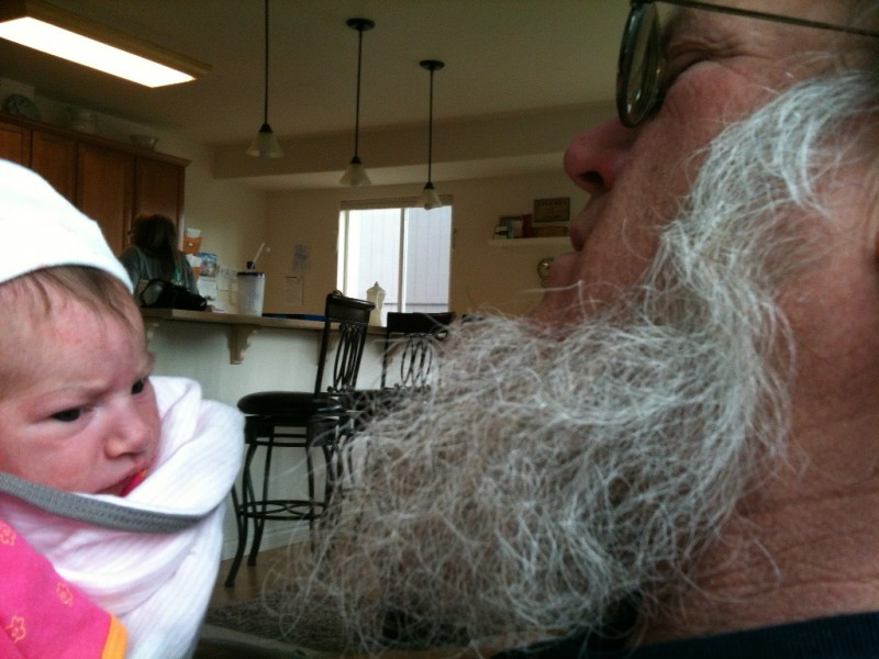 Amery Grace Wedin with Grampa